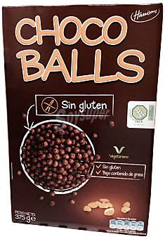 Harrisons Cereal bolas chocolate sin gluten Caja de 375 g