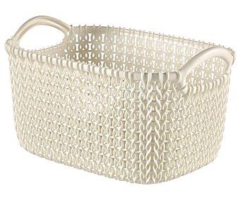 Curver Cesto multiusos color blanco, , XS Knit curver 3 litros