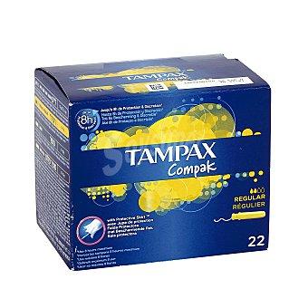 Tampax Tampones con aplicador regular Caja de 20 uds