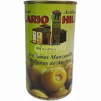Hilario Aceitunas rellenas anchoa lata 150G