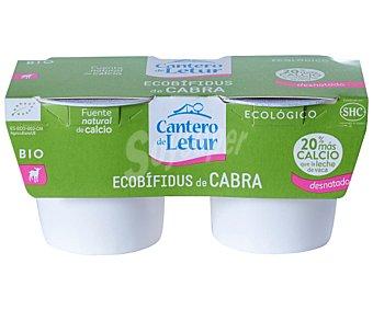 El Cantero de Letur Yogur ecobífidus de cabra desnatado Pack 2 uds x 125 g