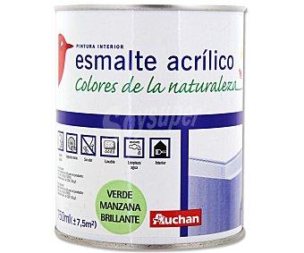 AUCHAN Esmalte Decorativo Acrílico Brillante, Color Verde Manzana 0,75 Litros