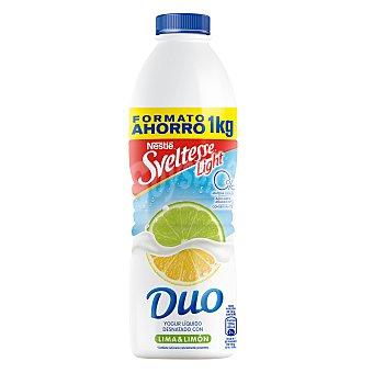 Sveltesse Nestlé Yogur líquido desnatado 0% m.g. 0% azúcares añadidos con lima y limón Botella 1 l