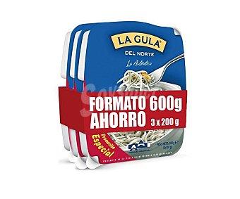 Angulas Aguinaga La Gula del Norte fresca  pack 3 envases 200 g