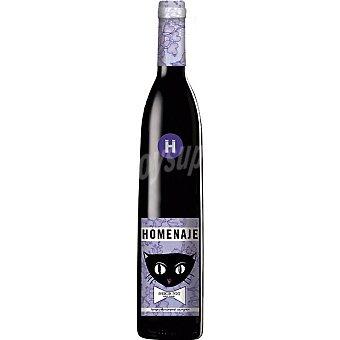 Homenaje Vino tinto tempranillo cabernet D.O. Navarra botella 75 cl 75 cl
