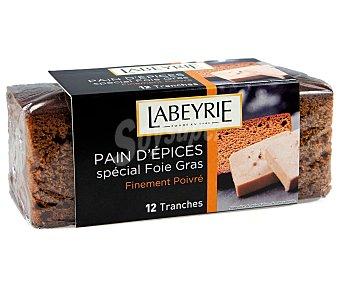 Labeyrie Pan de especias tostado especial para foie gras, 150 gramos, paquete de 12 unidades 150g