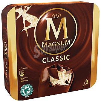 Magnum Frigo Bombón helado de vainilla recubierto de chocolate con leche 3 x 110 ml