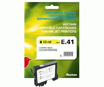 Auchan Cartucho E41 Amarillo 1u