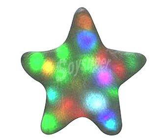 COJÍN MOLÓN Cojín molón con luces, forma de estrella, Fiesta 1 unidad