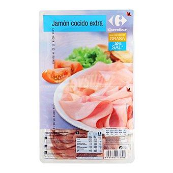 Carrefour Jamón cocido en finas lonchas 200 g