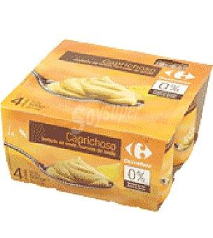 Carrefour Yogur Capr. Sorbete Limón Pack de 4x125 g