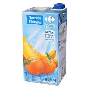 Carrefour Néctar naranja/plátano light 2 l