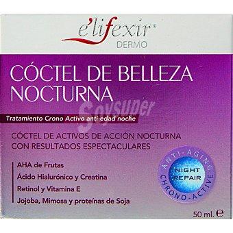 E'LIFEXIR Dermo cóctel de belleza nocturna crema tratamiento crono activo antiedad noche  tarro 50 ml