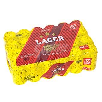 DIA Cerveza rubia nacional pack 24 latas 33 cl Pack 24 latas 33 cl