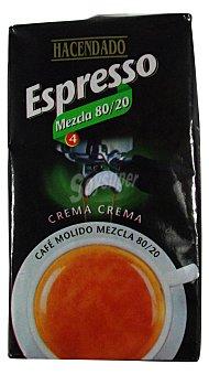 Hacendado Cafe molido espresso mezcla Nº 4 Paquete 250 g