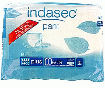 Indasec Pant Plus Talla Media 14 Unidades