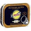 Filetes de anchoa del Cantábrico en aceite de oliva Lata 29 g neto escurrido Hoya serie oro