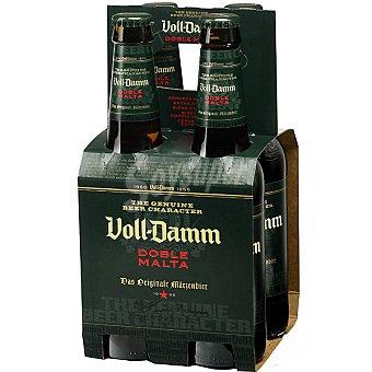 Voll-Damm Cerveza doble malta Pack 4x33 cl