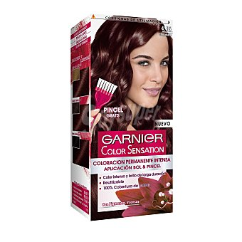 GARNIER COLOR SENSATION Tinte chocolate nº 4.15 coloración permanente intensa pincel gratis 1 unidad