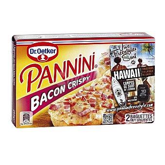 DR. OETKER PANNINI Bacon crispy 2 baguettes estuche 250 g Estuche 250 g