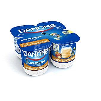 Danone Yogur sabor macedonia pack 4 x 125 g
