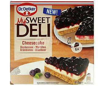 My Sweet Deli Dr. Oetker Pastel ultacongelado de cheesecake con cobertura de arádanos 515 g