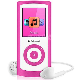 "Spc telecom 8464 Reproductor de MP4 de 4 GB con pantalla de 1,8"" color rosa"