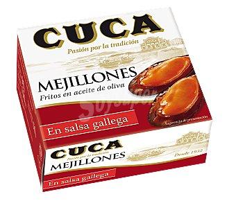 Cuca Mejillones en salsa gallega Lata 50 g peso neto escurrido