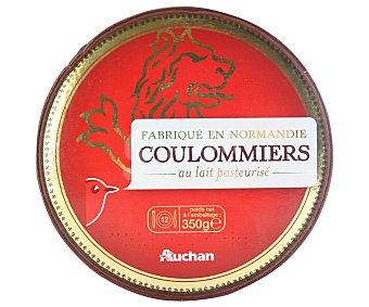 Auchan Queso Coulommiers (queso curado, elaborado con leche de vaca pasteurizada) 350 gramos