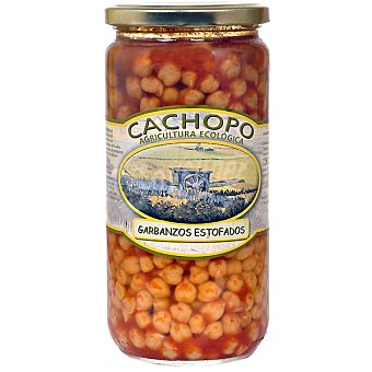 CACHOPO Garbanzos estofados ecológicos Frasco 700 g