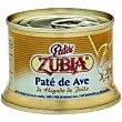 Paté de ave Lata 135 g Zubia