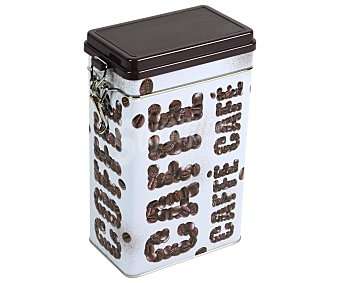 VIROJANGLOR Caja metálica hermética para café con diseño gráfico, modelo Big Bang 10,7x6,5x17 centímetros 1 Unidad