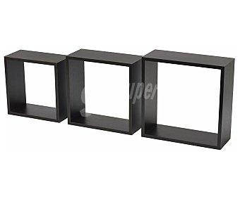 FETIM GROUP IBERICA Estanterías formado de 3 cubos 12 x 24 x 24cm en ebano, FETIM.