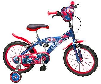 TOIMSA Bicicleta Infantil Spiderman 1 Velocidad 16 Pulgadas 1 Unidad