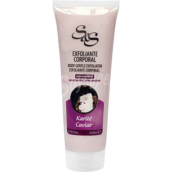 S&S Exfoliante corporal Karité y Caviar para pieles sensibles Tubo 250 ml