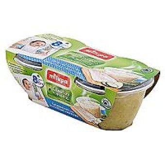 Milupa las recetas de mama Tarrina de calabacín-merluza Pack 2x200 g
