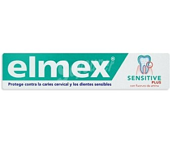 ELMEX Pasta dentrífica Sensitive Plus (protege contra caries cervical y dientes sensibles) 75 Mililitros
