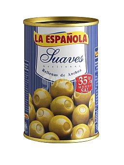 La Española Aceitunas rellenas de anchoa suave Lata de 130 g