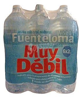 FUENTELOMA Agua mineral natural (mineralizacion muy debil) Pack 6 x 2 l - 12 l