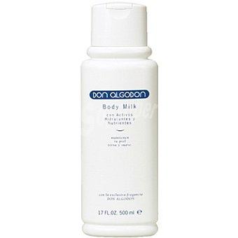 Don Algodón Body milk con activos hidratantes y nutrientes Frasco 500 ml