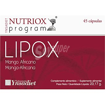 NUTRIOX Lipox Mango africano quemagrasas 45 cápsulas blister 23 g 45 c