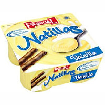 Pascual Natillas de vainilla Pack 4x125g