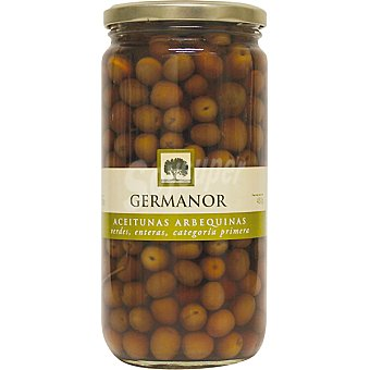Germanor Aceitunas arbequina enteras Frasco 430 g neto escurrido