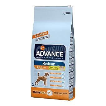 ADVANCE MEDIUM Pienso para perros adultos Advance Medium pollo y arroz 14 Kg