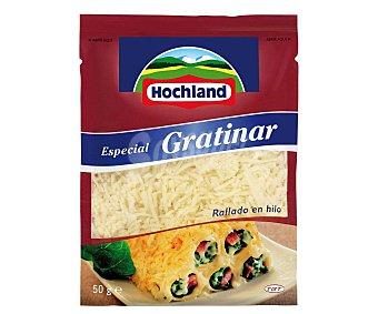 Hochland Queso rallado en hilo, especial para gratinar 50 g