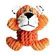 Peluche león para perros pana y cuerda 18 cm 1 unidad Fred & Rita