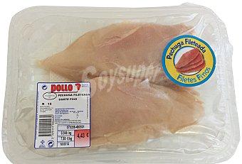 Sada Pollo pechuga filete fino fresco Bandeja 650 g peso aprox.