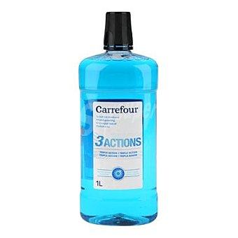 Carrefour Enjuague bucal triple acción 1 L 1 l
