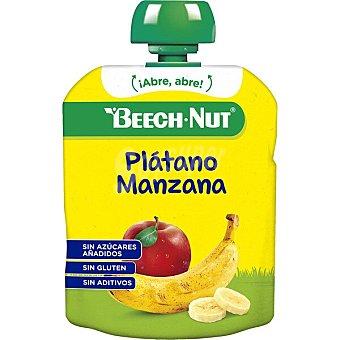 Beech-Nut Postre de plátano y manzana sin gluten y sin azúcares añadidos en Bolsita de 90 g