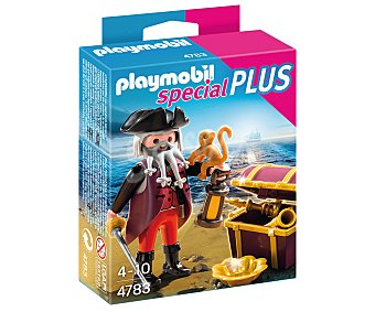 Playmobil Pirata con cofre del tesoro Special Plus modelo 4783  1 unidad